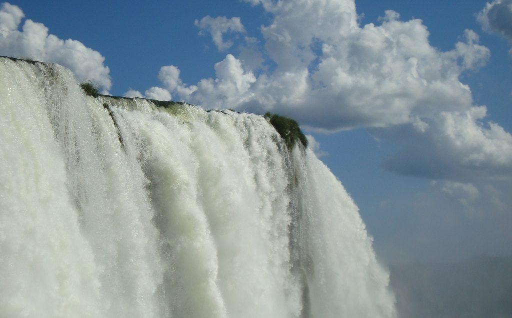 powerful flow of Iguazu Falls