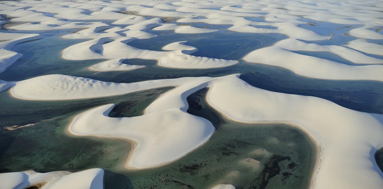 Lagoon lençois Maranhao seen