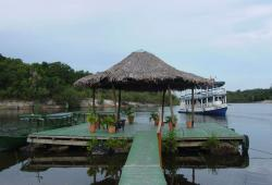Amazonie la jetée de l'Amazon Eco Park