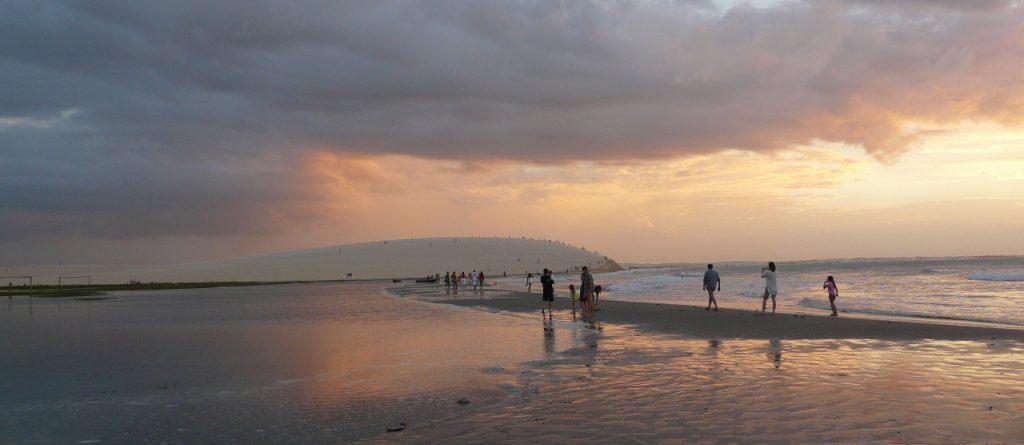 sunset Jericoacoara beach