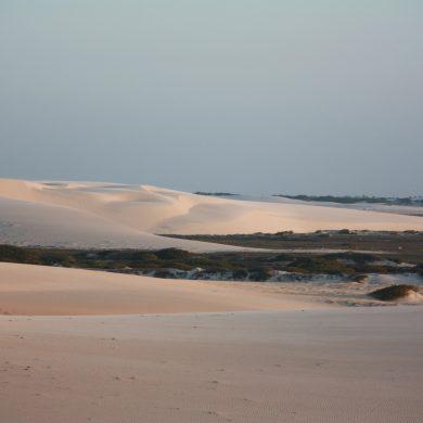 Dunes à l'arrivée à Jericoacoara