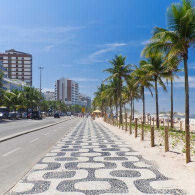 le trottoir de la plage d'ipanema Rio de Janeiro