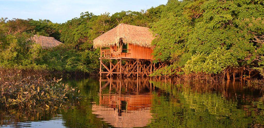 bungalow vue lac Juma lodge Amazonie