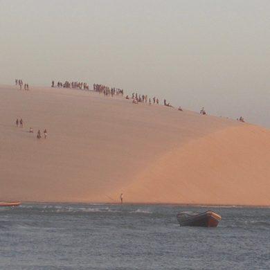 foule sur la dune Jericoacoara
